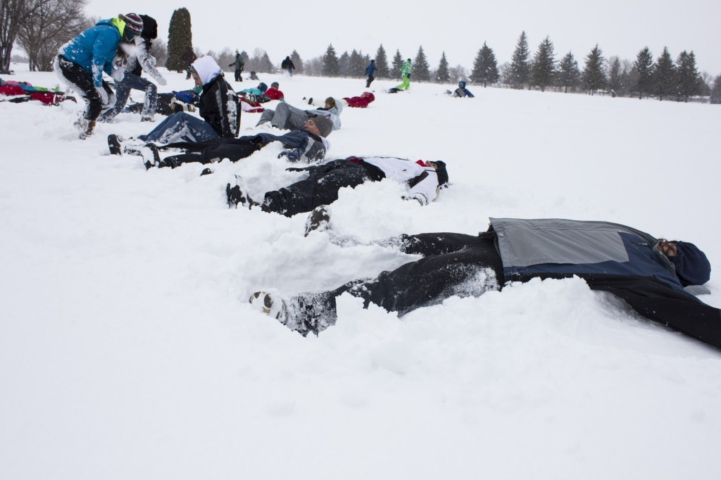 World Record Snow Angel