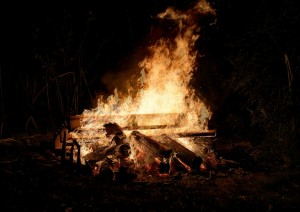 Fire, bonfire, activity, camping