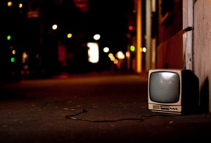 TV, Television, Bokeh, Street lights, Street