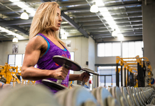 Body building, muscle, woman