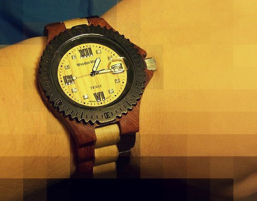 Watch, wooden watch, accessories, men