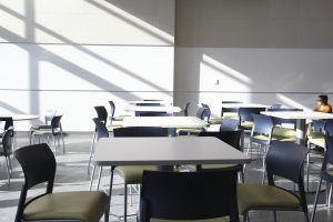 Inside the new Science and Technology Building. (Emily Rose Perkins, Scroll Photography)