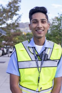 """I really enjoy working in this line because it's really fun. You get to meet a lot of new people, and then they are really nice to you. I like when they thank us for being here. That makes it a really fun job to do."" -Yaier Javaid, Pakistan, teenager working traffic control"