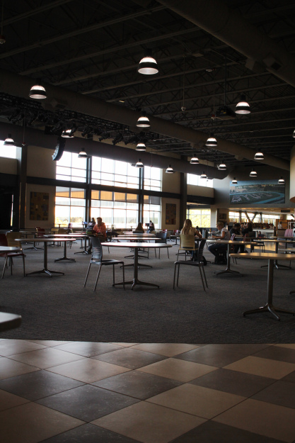 Photo courtesy of Carrin Nelson, a photo of a few tables populating the MC Crossroads