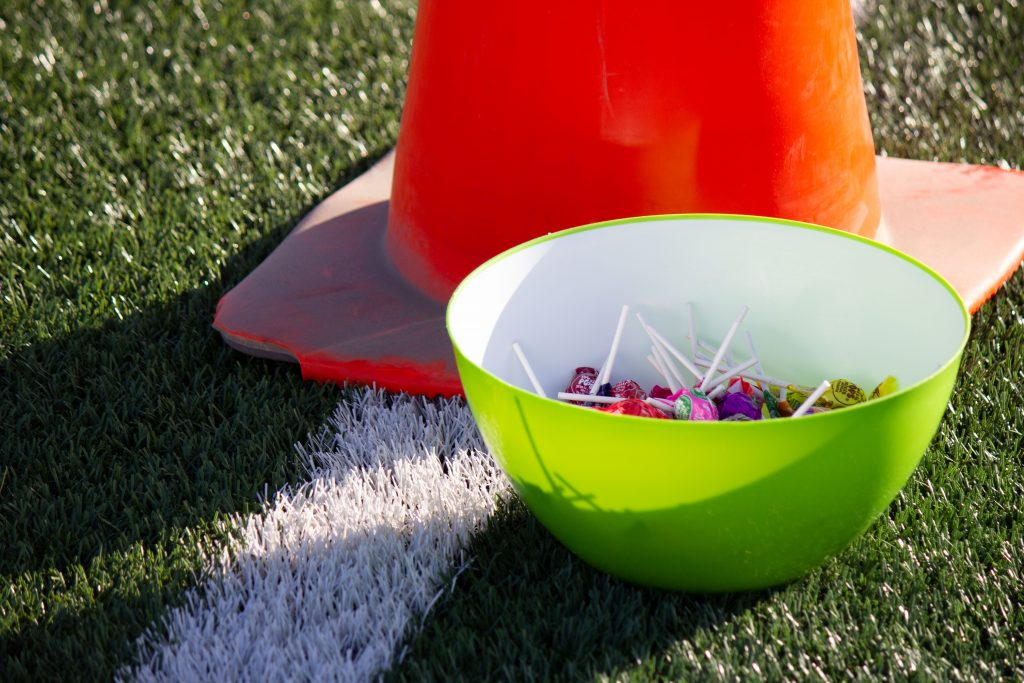 A candy bowl set out for participants.
