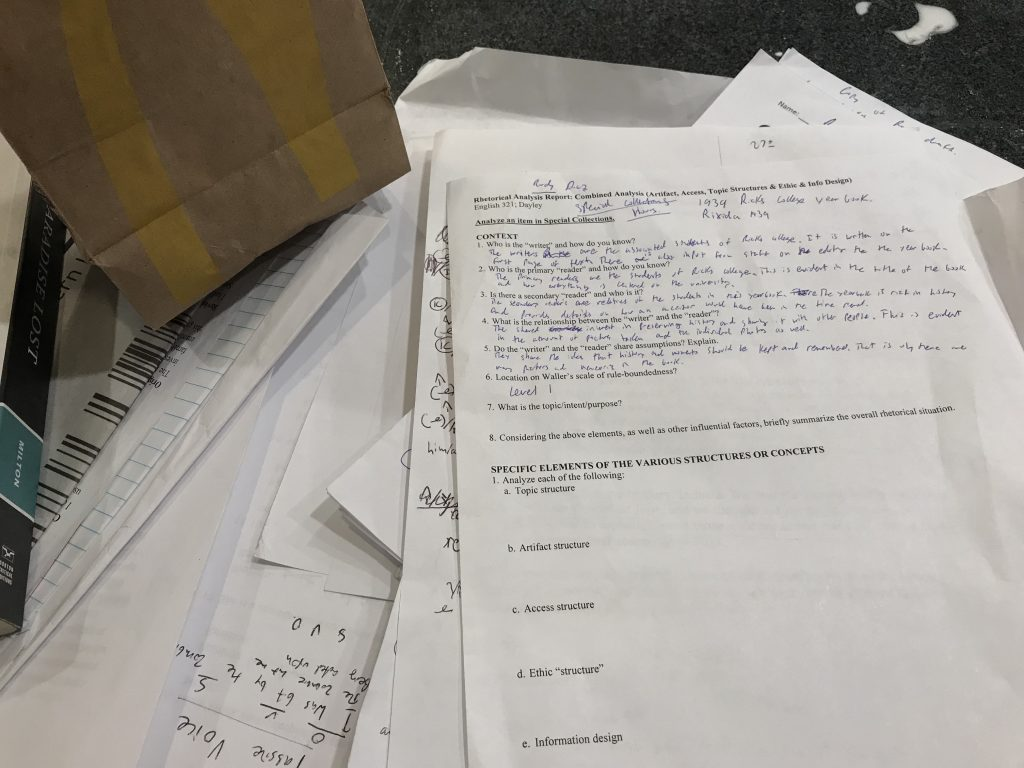 Clutter of assignments.