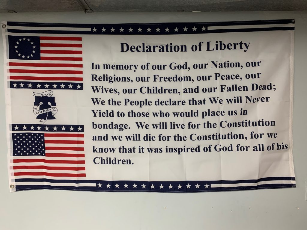 Flag found in the basement of Spark Freedom