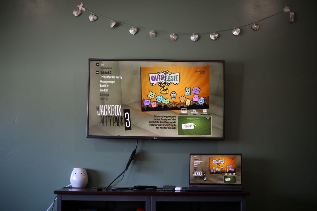 A game of jackbox ready to play.