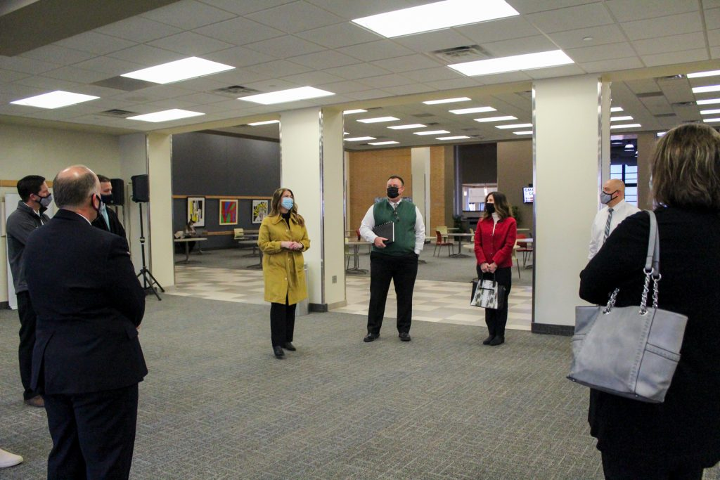 LaBaugh giving faculty a tour around campus