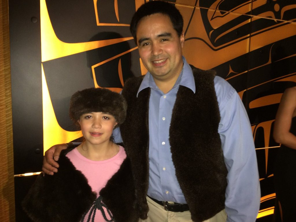 Marcus Gho with his daughter Liana who has modeled some of his work in fashion shows. Photo Credit Marcus Gho