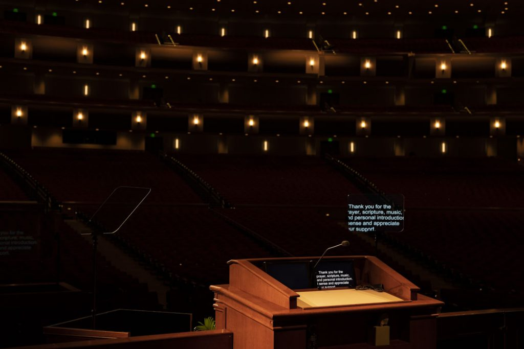 Empty BYUI - Center behind pulpit